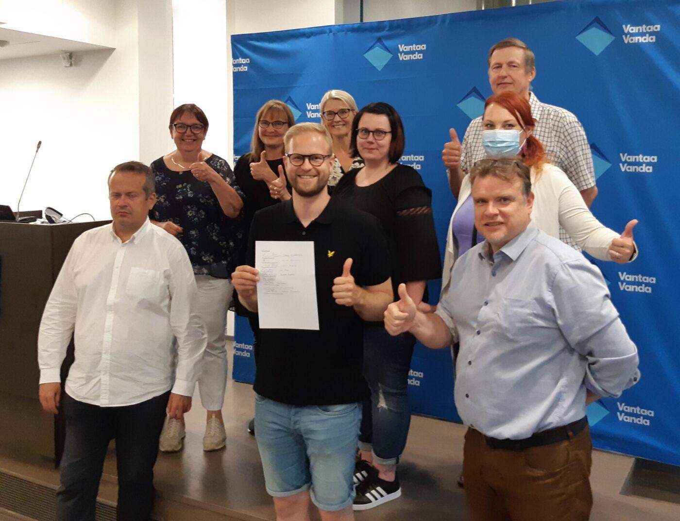 Puolueet Vantaalla sopuun paikkajaosta sekä yhteisistä talous- ja strategialinjauksista