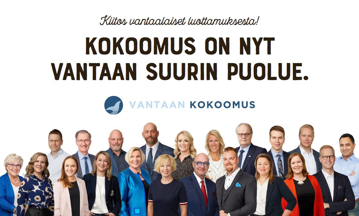 Kokoomus voitti kuntavaalit Vantaalla